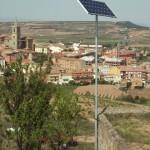Instalación solar fotovoltaica aislada en Navarrete