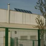 Placas solares térmicas en el polideportivo Caballero de la Rosa