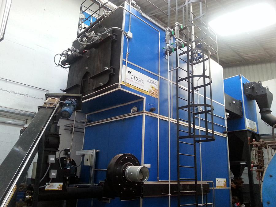 Biomasa para sala de calderas en industria Agar