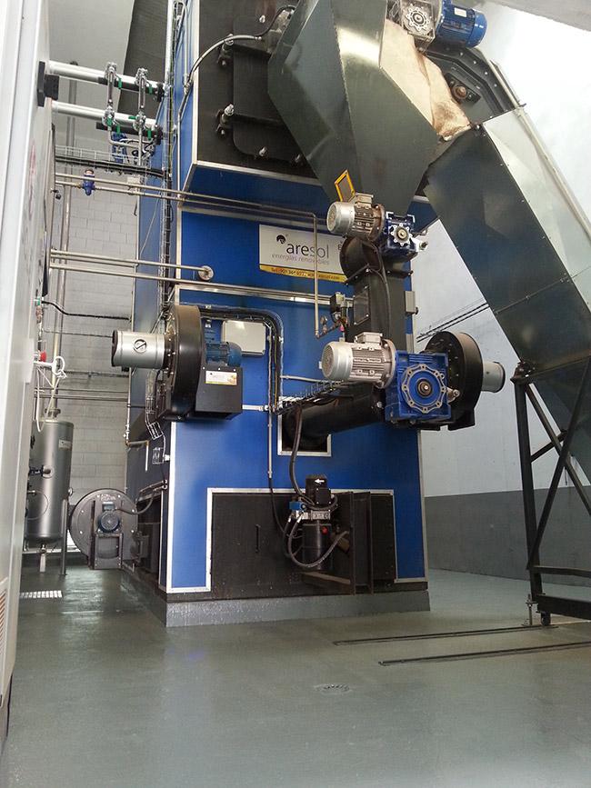 Caldera de Biomasa en industria Lavandería Golden Laundry