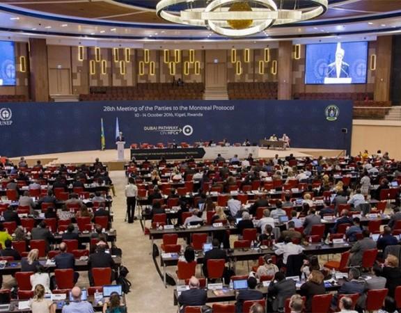 Cumbre contra el cambio climático celebrada en Kigali, Ruanda