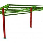 Plano instalación solar fotovoltaica en tejavana de parking.