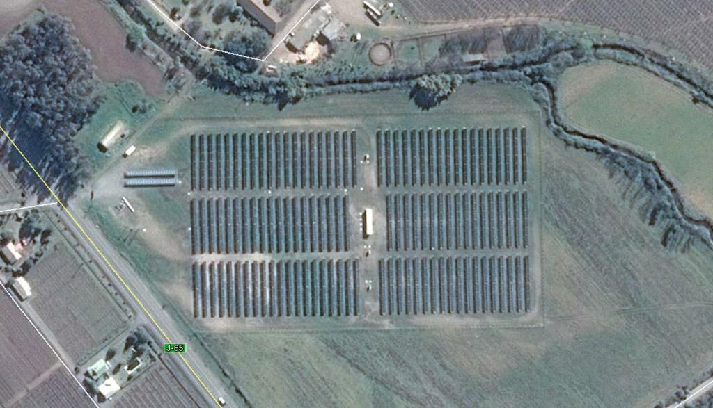 Plano aéreo de la instalación solar fotovoltaica Cordillerilla.