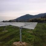 Uno de los paneles solares instalados en la Cordillerilla.