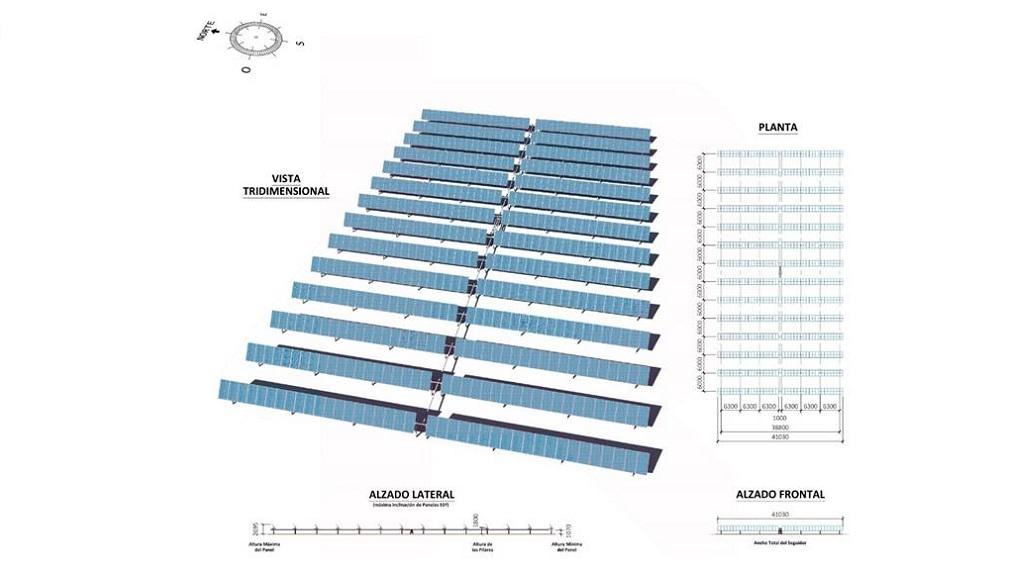 Plano de l parque fotovoltaico en Aguas Calientes