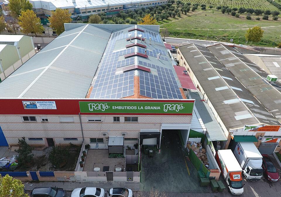 Instalación solar fotovoltaica de autoconsumo en industria de embutidos en Arganda del Rey