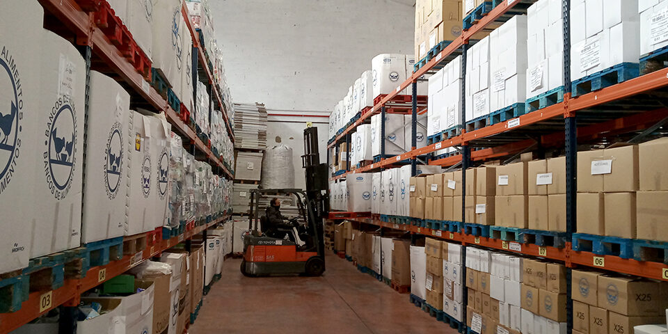Almacén de alimentación del Banco de ALimentos de La Rioja