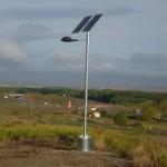 Instalación solar fotovoltaica aislada en Agoncillo