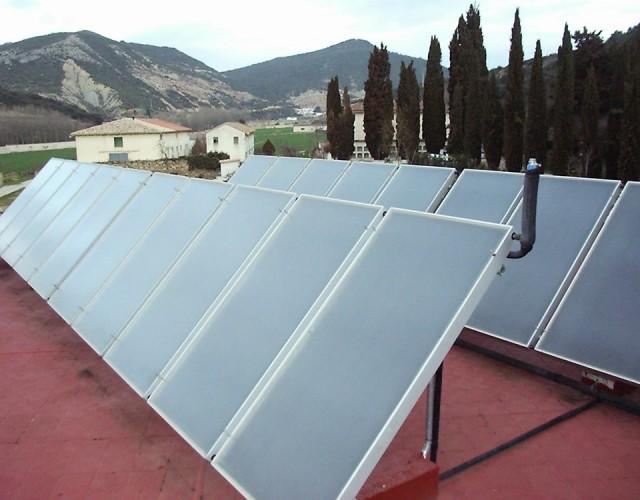 Placas solares térmicas en vivienda particular