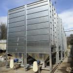 Silos en la instalación de biomasa en lavandería de Corosma