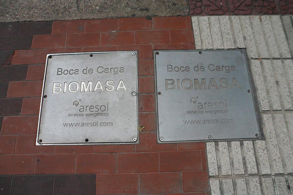Biomasa en Avenida de la Paz
