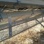 Una de las instalaciones en el parque fotovoltaico de Zhangiz.