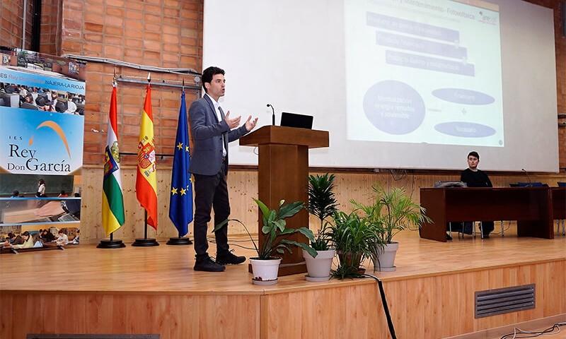 Ramón Martínez durante su exposición de la mañana.