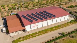 Instalación solar en la empresa Sampedrano