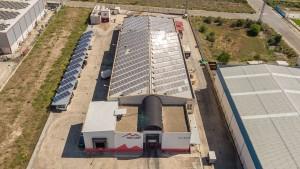 Instalación solar en la empresa Valle del EBro