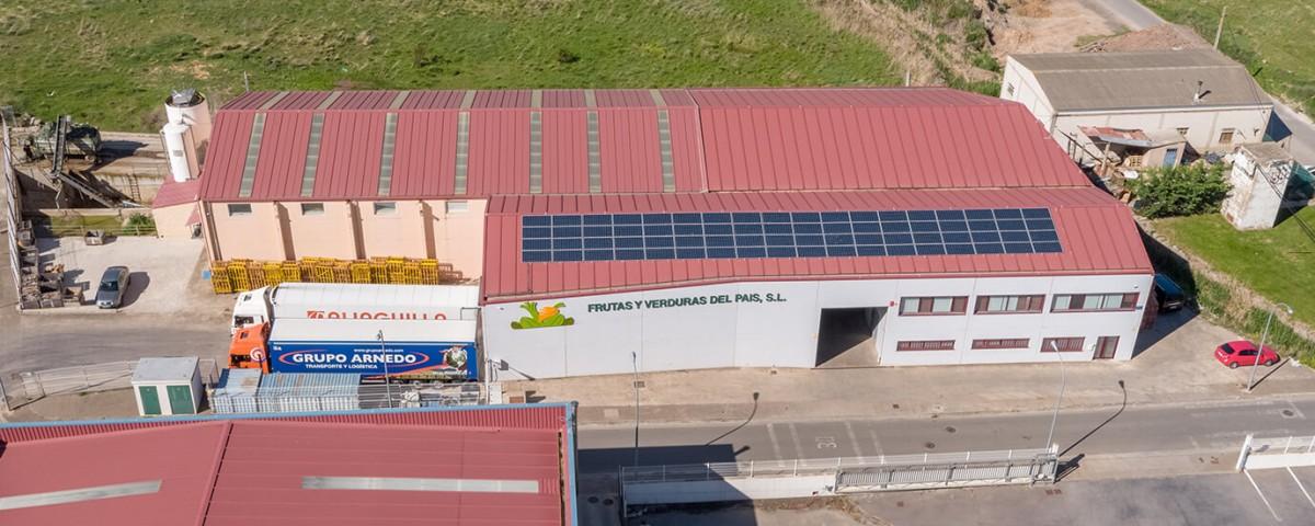 Instalación solar fotovoltaica de autoconsumo en la empresa Frutas y Verduras del País en Entrena, La Rioja
