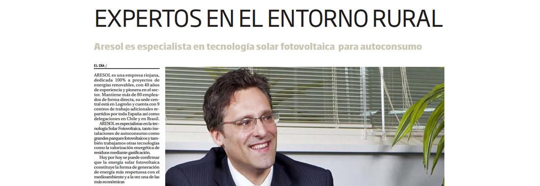 Aresol entrevistado en El Día de La Rioja